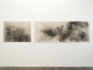 Aditi Singh, Untitled, 2013-15, Graphite on parchment paper (diptych), 36 x 146 in.