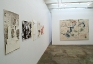 Installation view: Rose Wylie, Dona Nelson.