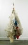 Richard Staub: Large Gathering, 2000. Plastic, yarn and thread,98 in. height, other dimensions varia