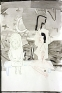 Rose Wylie: PC and Her Mother, 2007. Ink and colored pencil collageon paper, 33 x 23 in.