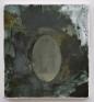 Jason Eberspeaker, Salt disc, 2017. Oil on Canvas 10 x 8 in.