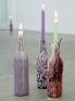 Untitled, 2012. Mixed media on wine bottles, 11.5 x 3 x 3 in (each bottle).