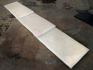 Death Sentence, 2011-2013. Engraving on marble, three pieces, 118.5 x 21.5 x 4 in..