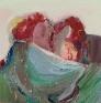 Kiss, 2010. Oil on board, 12 x 12 in.