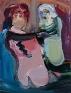 Unzipping, 2010. Acrylic on canvas, 14 x 11 in.
