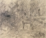 Walnut Way, 1999. Charcoal on canvas, 88 x 106 in.