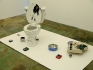 Chen Ke, Everything about little K, 2007. Installation (including one commode, one toy piano and six