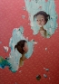 Chen Ke, Another me in the world, 2007. Modeling paste and oil color on silk, 67 x 47.25.