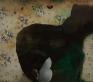 Chen Ke, Bridge, 2007.  Modeling paste and oil color on silk  31.5 x 27.5 in.