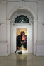 Installation view, Travancore Palace Gallery: Lady Mollusk, 2009. Inkjetprint on canvas with collage