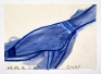 Blue Shoe (Toes), 2015. Watercolor and collage on paper, 24.5 x 33.5 in.