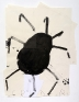 Spider with White Legs, 2014. Ink and collage on paper, 36 x 28 in.