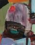 Haeri Yoo, Red Stain, 2008. Acryllic on canvas, 14 x 11 in.