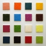 Ian Campbell, Colorfield 2, 2010. Oil on canvas (grid of 16), dimension variable (9 x 9 in each).