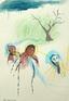 Ala Dehghan The Blond Prophet, 2009. Mixed media on paper,50 x 35 cm.