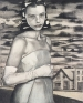 March, 2003. Graphite, oil and wax on prepared wooden panel, 28 x 22.5 in.