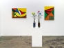 Installation view, south wall: Harriet Korman, Whitney Claflin, Harriet Korman.