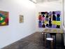Installation view, project area: Harriet Korman, Whitney Claflin, Bara.