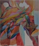 Jackie Gendel, Radiant Flux, 2015. Oil and vinyl on linen, 84 x 72 in.