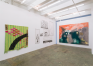 Installation view: north and west walls