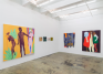 Installation view: south and east walls