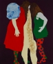 Thomas Lawson, Confrontation: Headbangers, 2010. Oil on canvas, 72 x 60 inches
