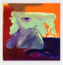 Viktorie Langer,  Keeping Distance, 2019. Oil on primed cotton canvas, 40 x 40 cm.