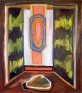Shanna Waddell, Medicine Cabinet Altarpiece 2, 2010. Oil on canvas, 37.5 x 33.5 in.