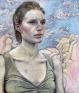 Jenny Scobel: Pilgrim, 2011/2012. Pencil and watercolor on prepared wooden panel,29 x 24 in.