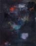 Giovanna Sarti: Sedimentazione #4, 2014. Ink, glitter and pigment on linen, 19.5 x 15.75 in.