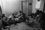Nizamuddin Gang Hanging Out at Ruhan\'s Pad, New Delhi, 1978. Gelatin silver print, edition of 10 (+
