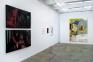 Installation view, west and north wall: Jonathan Delachaux, Kohei Akiba, Jennifer Packer.