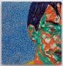 Zheng Wei: Portrait No. 2, 2010. Woodcut and mixed media, 24 x 23 in.