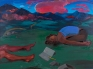 Haley Josephs, Night Painting (Emergence of Clouds), 2016, oil on canvas, 72 x 96 inches