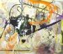 Lydia Dona, Golden Blasting into the Urban Tissue, 2017. Oil, acrylic, enamel, metallic paint & lami