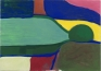 Harriett Korman, Figure sleeping, 1979. Oil on canvas, 106.7 x 152.4 cm