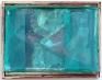 Paul Doran: Angry Bird, 2013. Wood, card, fabric, acrylic paint, plastic, staples, 11 x 14 in.