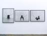 Performance Piece, 1978. Silver gelatin print, triptych, 31.5 x 40 in each, edition of 5 (+1 AP).Nyl