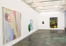 Installation view: Symbol-life, Untitled (Greens) & Float Tank, Late June, and Fallen.