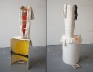Cassie Raihl, TigerStack, 2010. Wood, tar, plaster, fabric, newspaper. 16 x 49 x 13 in.