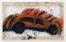 Orange Car, 2008. Oil on plastic, 46 x 28 in.