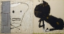rwy-Cat & Skull, 2010. Oil on canvas, 72 x 135 in.