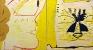 Plastic Bride Profile & Cat, 1998. Oil on canvas, 72 x 136 in.