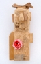 Little Monk, 2014. Wood and mixed media, 20.5 x 9.5 x 7.5 in.