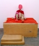 Red Man, 2006. Wood, fabric and mixed media, 33 x 34 x 43 in. (installation view)