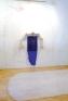 Senga Nengudi, Pilgrim's Song, 1996. Metal, plastics, spray paint,chopsticks and wall drawing, 1
