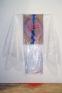 Senga Nengudi, Scat Chant, 1996. Bubble wrap, dry cleaner\'s plasticbag, metal, spray paint on paper