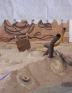 Installation view (detail): Senga Nengudi, Asp-Rx, 2005.