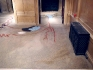 Installation view: Senga Nengudi, From One Source Many Rivers, 2004 - 2005. Sand, pigment, fossils,