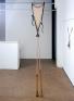 Senga Nengudi, R.S.V.P. 1975-77. Nylon mesh, sand, 8 x 1 feet.
